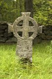 Stone cross. A view of a stone cross Stock Photography