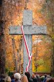 Stone cross Stock Photography
