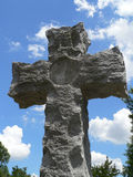 Stone Cross. In Cemetery Stock Images