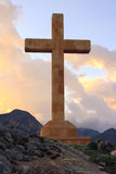 Stone Cross Royalty Free Stock Photos