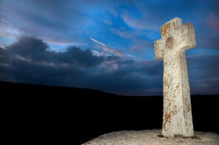 Stone cross Stock Images