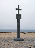 Stone cross at Cape Cross on the Skeleton Coast Royalty Free Stock Photography