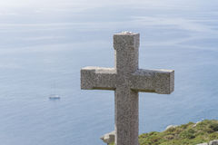 Stone cross. Stock Image