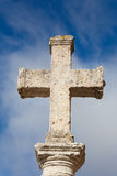 Stone cross in Carrion de los Condes Stock Images