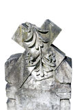 Stone Cross Carving. Intricate stone Cross carving displaying items of nature Royalty Free Stock Photography