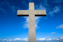Stone Cross Royalty Free Stock Images