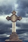 Stone cross Royalty Free Stock Photo