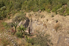 A stone cross, Ethiopia Royalty Free Stock Photos
