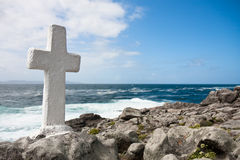 Stone Cross in Galicia, Spain Stock Images