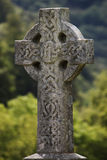 Stone cross, Glendalough Stock Image