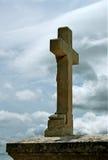 Stone cross Royalty Free Stock Photo