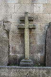 Stone cross. Located in the cathedral of Braga, Portugal Royalty Free Stock Images