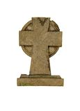 Stone cross marker Royalty Free Stock Image