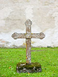 Stone cross. On old grave yard Royalty Free Stock Images