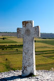 Stone cross in Old Orhei Stock Images