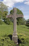 Stone cross outdoors Royalty Free Stock Photography