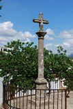 Stone cross outside the Marquis of Salvatierre House, Ronda, Spain. Stone cross outside the Marquis of Salvatierre House, Ronda, Malaga Province, Andalucia royalty free stock image