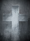 Stone cross religious background Stock Images