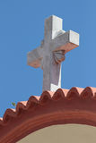 Stone cross. A stone cross in the Rhodes island, Greece royalty free stock photography