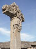 Stone cross seventeenth century. Rabano de Sanabria, Zaora, Spain. Stone cross seventeenth century. Rabano de Sanabria, Zaora, Spain stock image