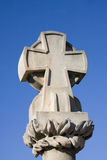 Stone cross on the stone bridge of zaragoza Stock Photo
