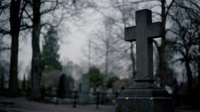 Stone Cross Tombstone Cemetery