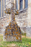 Stone cross tombstone Royalty Free Stock Image