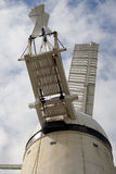Stone Cross Windmill. Is located on high ground in the village of Stone Cross, just north of Eastbourne in East Sussex Stock Images