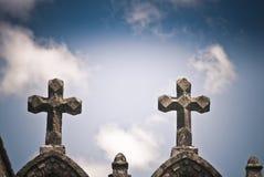 Stone crosses Stock Image