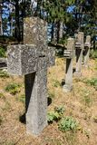 old cemetery crosses close up stock photos