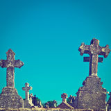Stone Crosses Stock Image