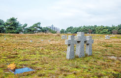 Stone crosses in the old cemetery Royalty Free Stock Image