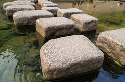 Stone Crossing River Royalty Free Stock Photo
