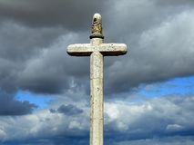 Stone crucifix stock photos