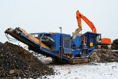 Stone crusher Stock Image