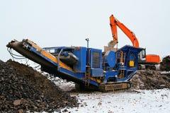 Stone crusher. Machine for crushing stone construction waste Stock Image