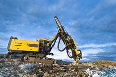 Stone crusher. On top of mountain Royalty Free Stock Photography