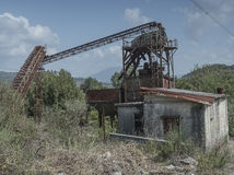 Stone crusher abandoned. Cilento Stock Image
