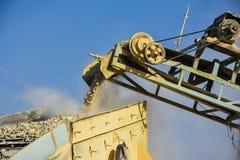 Stone Crusher. Stone crushing machine somewhere near Quaidabad, Khushab, Pakistan Stock Photography