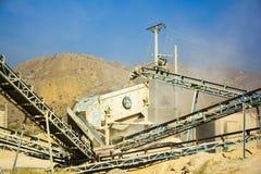 Stone Crusher. Stone crushing machine somewhere near Quaidabad, Khushab, Pakistan Royalty Free Stock Photo