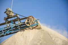 Stone Crusher & Dust. Stone crushing machine & dust somewhere near Quaidabad, Khushab, Pakistan Stock Images
