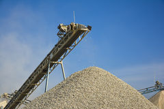 Stone Crusher & Gravel. Stone crushing machine & gravel somewhere near Quaidabad, Khushab, Pakistan Stock Images