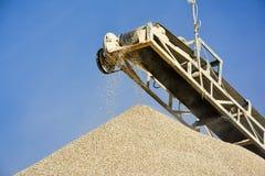 Stone Crusher & Gravel. Stone crushing machine & gravel somewhere near Quaidabad, Khushab, Pakistan Stock Photography
