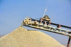 Stone Crusher & Gravel. Stone crushing machine & gravel somewhere near Quaidabad, Khushab, Pakistan Stock Image
