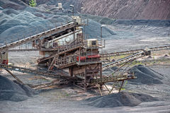 Stone crusher in porphyry surface mine. hdr image Stock Photos