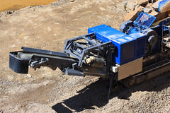Stone crusher in the quarry Royalty Free Stock Images