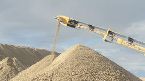 Stone crusher at the quarry stock video