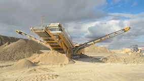 Stone crusher at the quarry stock video footage