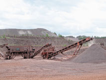 Stone crusher in a quarry. mining industry. Stock Photos