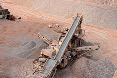 Stone crusher in a quarry. mining industry. Stock Image